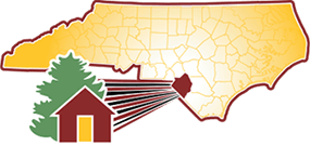 A map of North Carolina highlighting the location of the City of Pembroke in Robeson County.